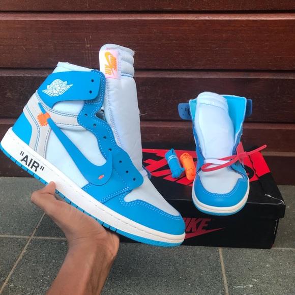 new concept f4d15 16c6e Nike off white air Jordan 1 UNC NWT